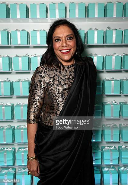 Director Mira Nair attend the Vanity Fair and Tiffany Co private dinner toasting Lupita Nyong'o and celebrating Legendary Style at ShangriLa Hotel on...