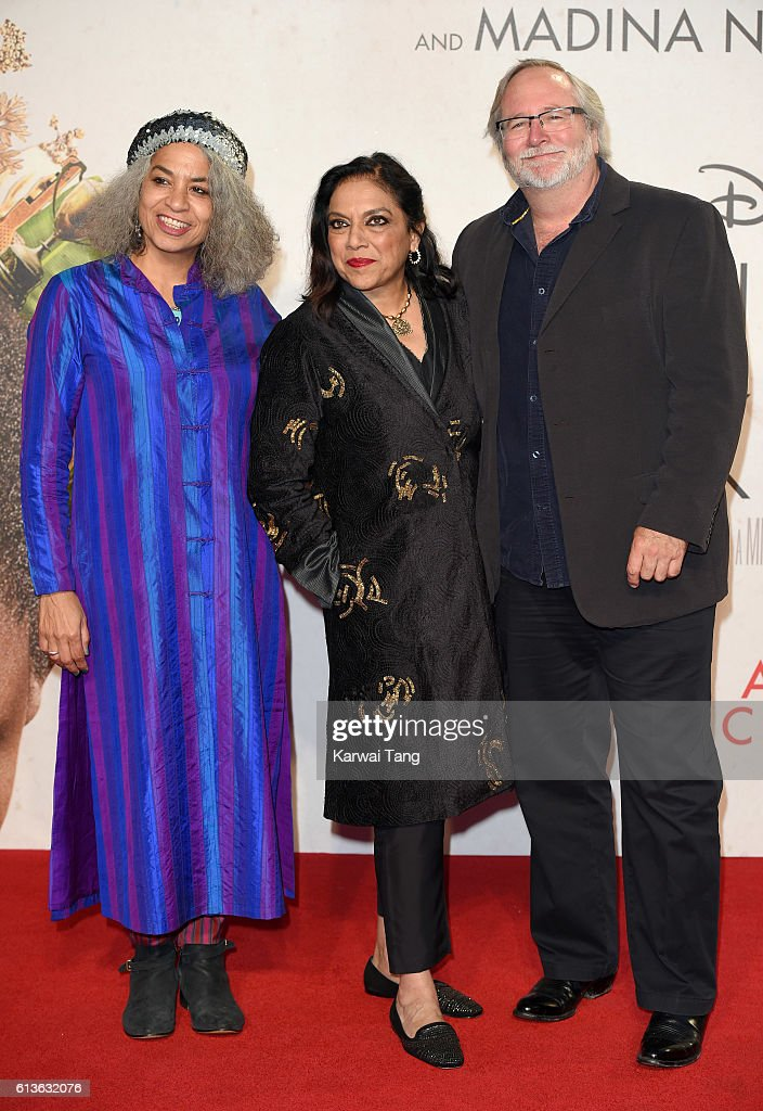 Director Mira Nair (C) attends the 'Queen Of Katwe' - Virgin Atlantic Gala screening during the 60th BFI London Film Festival at Odeon Leicester Square on October 9, 2016 in London, England.