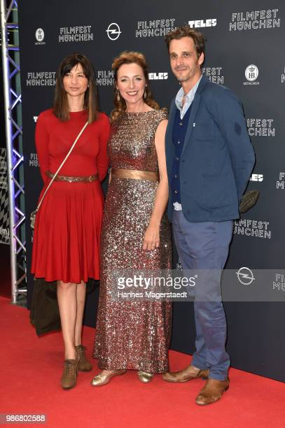 Director Mira Thiel Diana Iljine Max von Thun during the opening night of the Munich Film Festival 2018 at Mathaeser Filmpalast on June 28 2018 in...