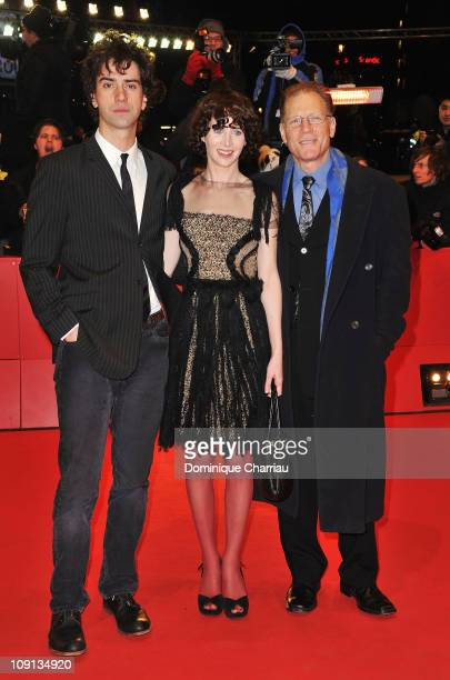 US director Miranda July actor Hamish Linklater and actor David Warshofsky attend the 'The Future' Premiere during day six of the 61st Berlin...