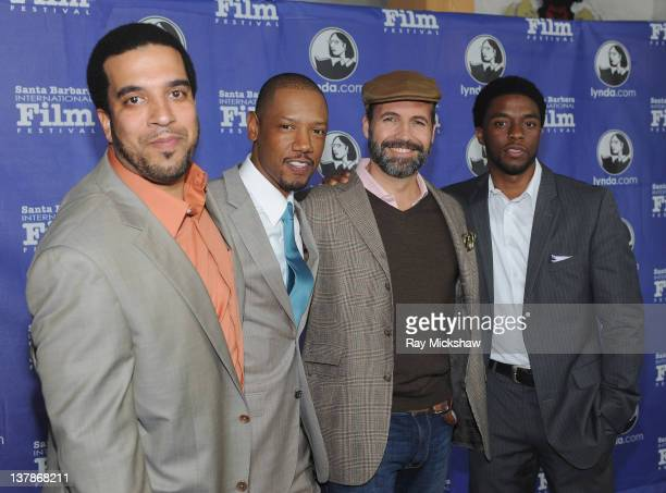 Director Mischa Webley Actors Tory Kittles Billy Zane and Chadwick Boseman arrives on the red carpet before the Modern Master Award Tribute to...