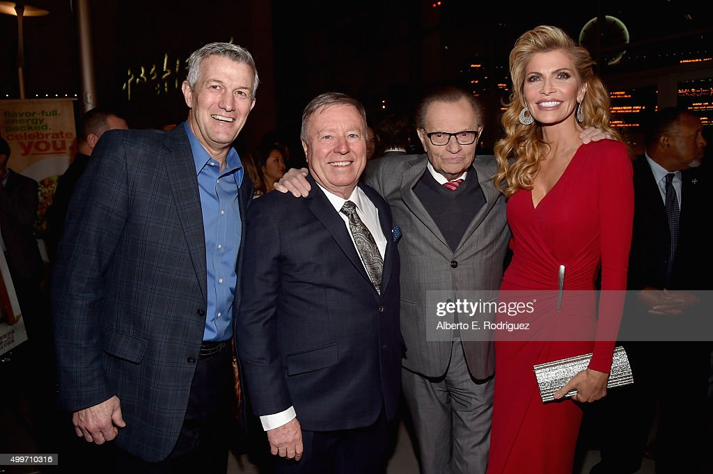 Director Mitch Davis, executive producer Ken Brailsford, producer Larry King and actress/producer Shawn King attend the premiere of 'Christmas Eve' at ArcLight Hollywood on December 2, 2015 in Hollywood, California.