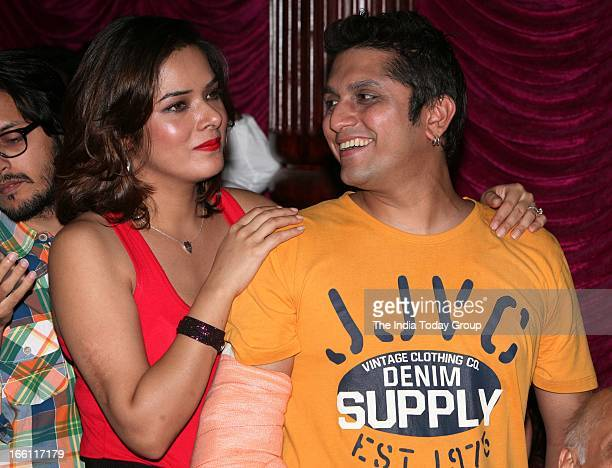 Director Mohit Suri with wife Udita Goswami at the music launch of the film Aashiqui 2 in Mumbai on 8th April 2013