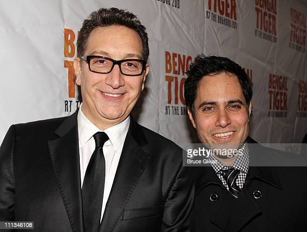 Director Moises Kaufman and Playwright Rajiv Joseph pose at The Opening Night of Bengal Tiger at the Baghdad Zoo on Broadway at Richard Rodgers...