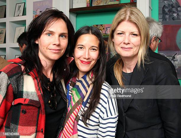 Director Molly Schiot screenwriter Bugge and Fawn Hall attend Time Alters All A Retrospective Of An Emerging Artist Exhibition By Michael LindsayHogg...