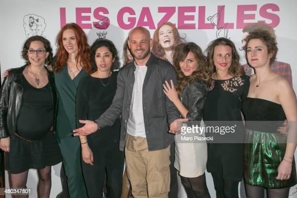 Director Mona Achache, actresses Audrey Fleurot, Naidra Ayadi, actor Franck Gastambide, actresses Camille Chamoux, Camille Cottin and Josephine de...