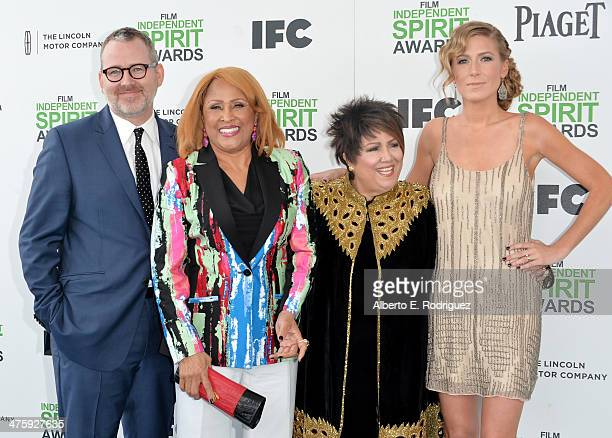 Director Morgan Neville singers Darlene Love and Tata Vega and producer Caitrin Rogers attend the 2014 Film Independent Spirit Awards at Santa Monica...