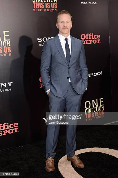 """Director Morgan Spurlock attends the New York premiere of """"One Direction: This Is Us"""" at the Ziegfeld Theater on August 26, 2013 in New York City."""