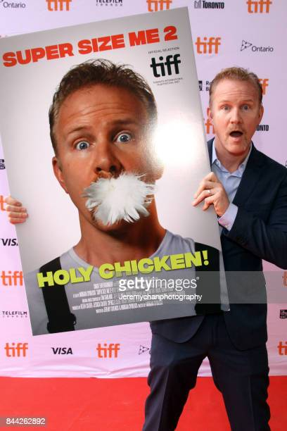 Director Morgan Spurlock attends the 'Super Size Me 2 Holy Chicken' premiere during the 2017 Toronto International Film Festival held at Ryerson...