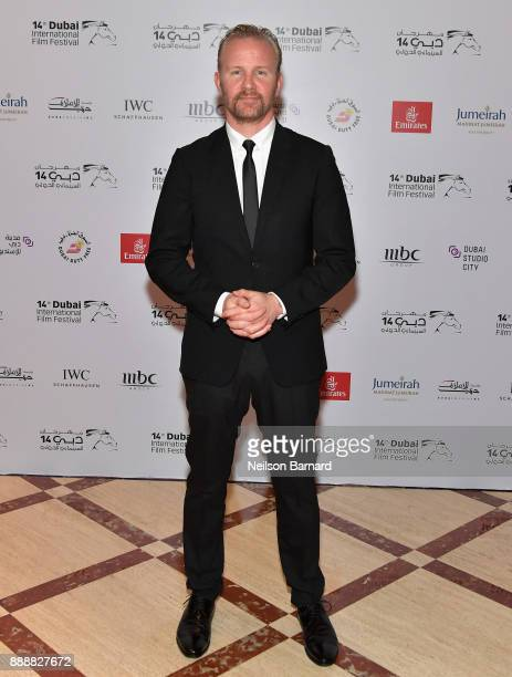 Director Morgan Spurlock attends the 'Super Size Me 2 Holy Chicken' red carpet on day four of the 14th annual Dubai International Film Festival held...