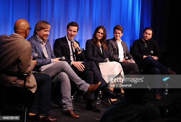 Director Morten Tyldum actor Benedict Cumberbatch actress Keira Knightley Graham Moore and Teddy Schwarzman at the official Academy members screening...