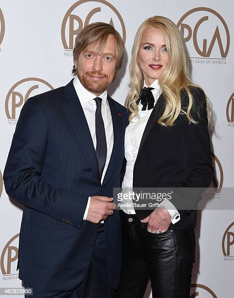 Director Morten Tyldum and Janne Tyldum arrive at the 26th Annual PGA Awards at the Hyatt Regency Century Plaza on January 24 2015 in Los Angeles...