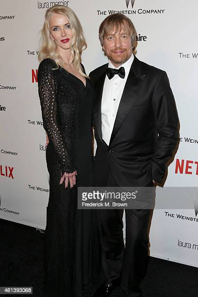 Director Morten Tyldum and Janne Tyldum attend the 2015 Weinstein Company and Netflix Golden Globes After Party at Robinsons May Lot on January 11...