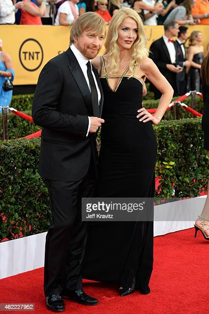 Director Morten Tyldum and Janne Tyldum attend the 21st Annual Screen Actors Guild Awards at The Shrine Auditorium on January 25 2015 in Los Angeles...
