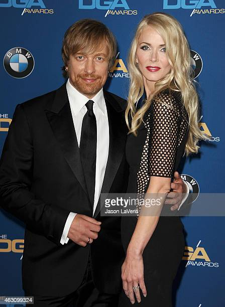 Director Morten Tyldum and Janne Tyldum attend the 67th annual Directors Guild of America Awards at the Hyatt Regency Century Plaza on February 7...