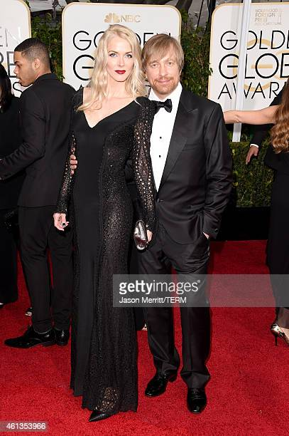 Director Morten Tyldum and Janne Tyldum attend the 72nd Annual Golden Globe Awards at The Beverly Hilton Hotel on January 11 2015 in Beverly Hills...