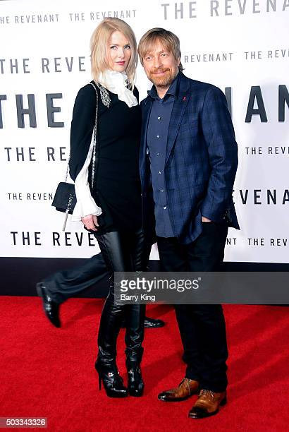 Director Morten Tyldum and Janne Tyldum attends the Premiere of 20th Century Fox And Regency Enterprises' 'The Revenant' at TCL Chinese Theatre on...