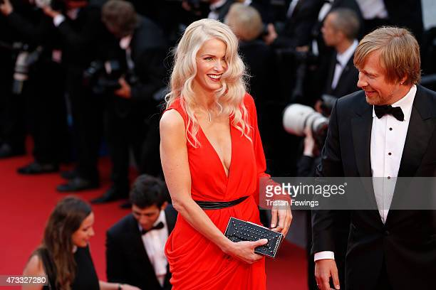 Director Morten Tyldum and wife Janne Tyldum attend Premiere of Mad Max Fury Road during the 68th annual Cannes Film Festival on May 14 2015 in...
