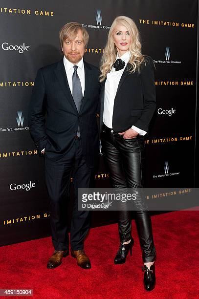 Director Morten Tyldum and wife Janne Tyldum attend The Imitation Game New York Premiere at the Ziegfeld Theater on November 17 2014 in New York City