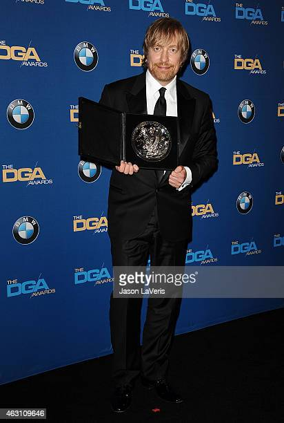 Director Morten Tyldum poses in the press room at the 67th annual Directors Guild of America Awards at the Hyatt Regency Century Plaza on February 7...