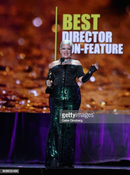Director mr Pam wins the Best Director NonFeature award during the 2018 GayVN Awards show at The Joint inside the Hard Rock Hotel Casino on January...