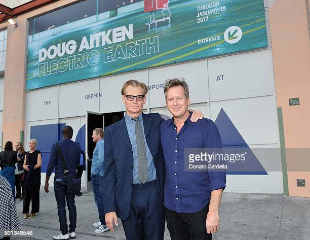 Director Museum of Contemporary Art Los Angeles Philippe Vergne and Artist/filmmaker Doug Aitken attend MOCA's Leadership Circle And Members' Opening...