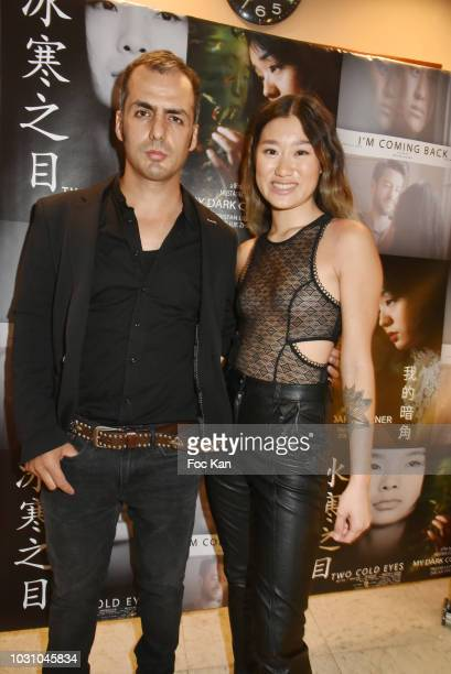 Director Mustafa Ozgun and actress Anne Hui Zhan attend the Mustafa Ozgun 3 Short Movies Screening At Studio Etoile on September 10 2018 in Paris...