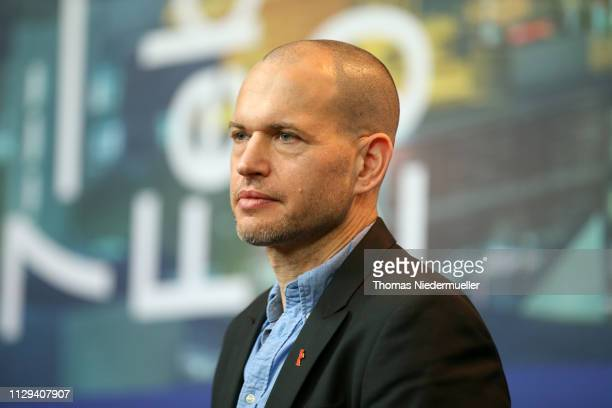Director Nadav Lapid arrives for the Synonymes press conference during the 69th Berlinale International Film Festival Berlin at Grand Hyatt Hotel on...