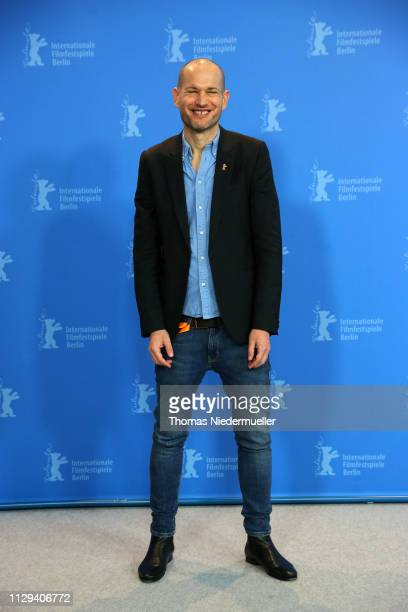 Director Nadav Lapid poses at the Synonymes photocall during the 69th Berlinale International Film Festival Berlin at Grand Hyatt Hotel on February...