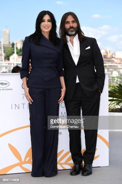 Director Nadine Labaki and producer and husband Khaled Mouzanar attend the'Capharnaum' Photocall during the 71st annual Cannes Film Festival at...