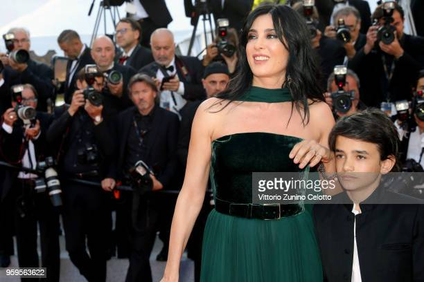 Director Nadine Labaki and Zain Alrafeea attend the screening of 'Capharnaum' during the 71st annual Cannes Film Festival at Palais des Festivals on...