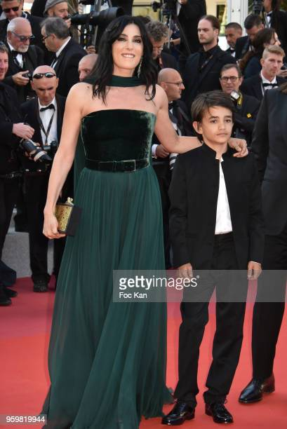 Director Nadine Labaki and Zain Alrafeea attend the screening of' Capharnaum' during the 71st annual Cannes Film Festival at Palais des Festivals on...