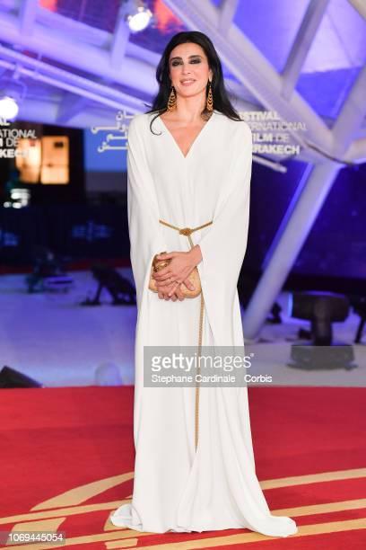 Director Nadine Labaki attends Capernaum premiere during the 17th Marrakech International Film Festival on December 7 2018 in Marrakech Morocco