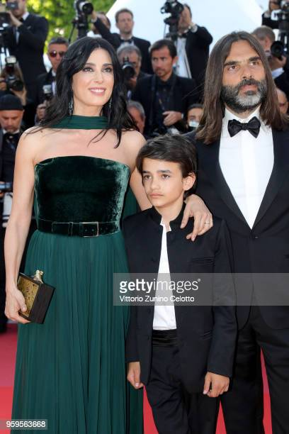 Director Nadine Labaki Zain Alrafeea and Khaled Mouzanar attend the screening of Capharnaum during the 71st annual Cannes Film Festival at Palais des...