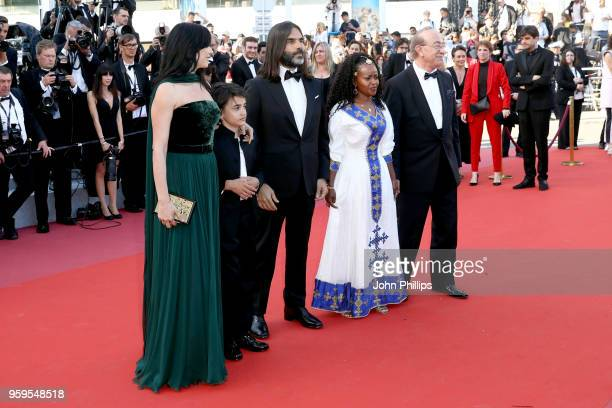 Director Nadine Labaki Zain Alrafeea Khaled Mouzanar Yordanos Shifera and guest attend the screening of 'Capharnaum' during the 71st annual Cannes...