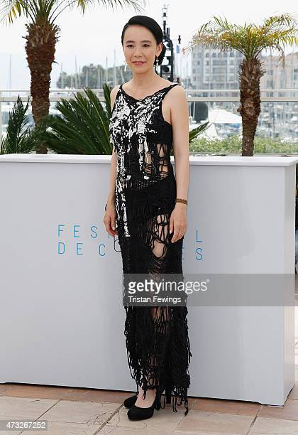 Director Naomi Kawase attends a photocall for 'An' during the 68th annual Cannes Film Festival on May 14 2015 in Cannes France