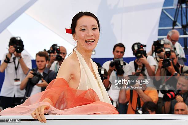 Director Naomi Kawase attends the 'Hanezu No Tsuki' photocall at the Palais des Festivals during the 64th Cannes Film Festival on May 18 2011 in...