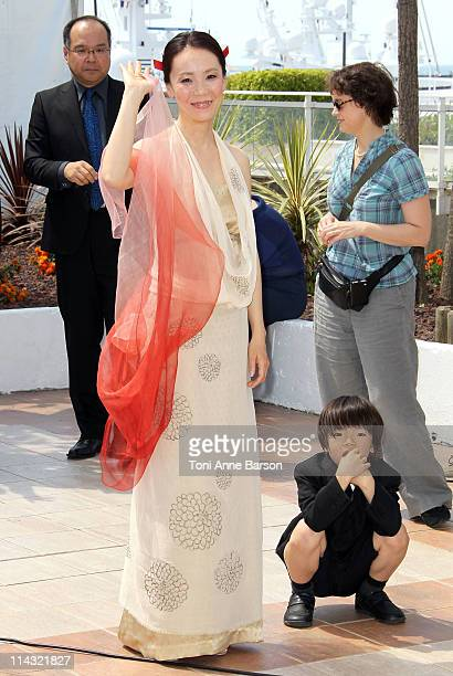 Director Naomi Kawase attends the 'Hanezu' Photocall during the 64th Cannes Film Festival at the Palais des Festivals on May 18 2011 in Cannes France