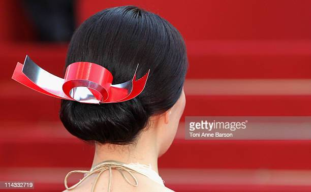 Director Naomi Kawase attends the Hanezu Premiere during the 64th Cannes Film Festival at the Palais des Festivals on May 18 2011 in Cannes France