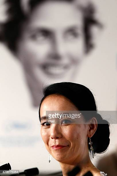 Director Naomi Kawase attends the press conference for 'An' during the 68th annual Cannes Film Festival on May 14 2015 in Cannes France
