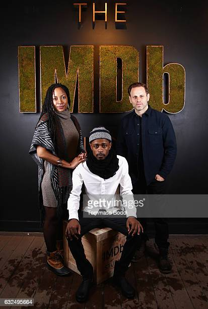 Director Natalie Paul actor Lakeith Stanfield and director/writer Matt Ruskin of 'Crown Heights' attend The IMDb Studio featuring the Filmmaker...