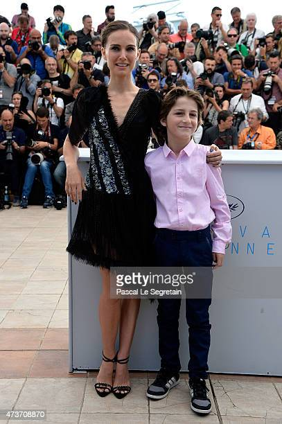 Director Natalie Portman and actor Amir Tessler attends a photocall for 'A Tale Of Love And Darkness' during the 68th annual Cannes Film Festival on...