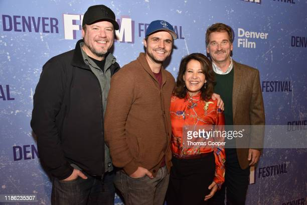 """Director, Nate Bakke, writer/actor Daniel Cummings, actor Tammy Kaitz and actor Pete Gardner from the movie """"Man Camp"""" on the red carpet at the 42nd..."""