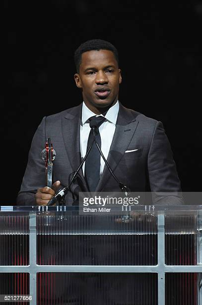 Director Nate Parker accepts the Breakthrough Director of the Year Award during the CinemaCon Big Screen Achievement Awards brought to you by the...