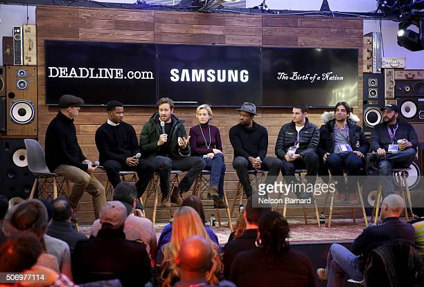 Director Nate Parker actors Armie Hammer Penelope Ann Miller Chike Okonkwo producers Jason Berman Kevin Turen and Aaron L Gilbert discuss 'The Birth...