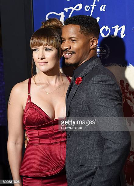 Director Nate Parker and Sarah DiSanto attend the premiere of his film The Birth of a Nation September 21 2016 at ArcLight Cinemas in Hollywood...