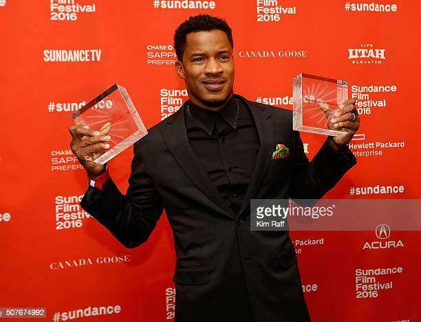 Director Nate Parker winner Audience Award US Dramatic and US Grand Jury Prize Dramatic for 'The Birth of a Nation' poses at the Sundance Film...