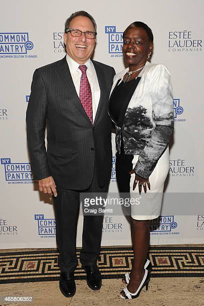 Director National Chairman of JINSA Michael Nachman and Board Secretary of Wells Fargo Foundation Deborah Smith attend the annual Fill the Bag...