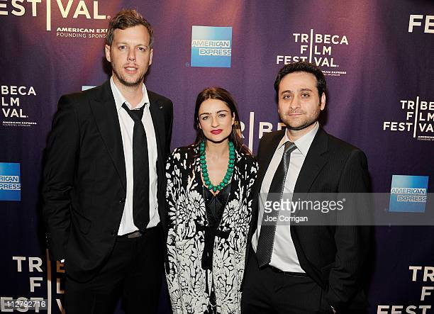 Director Navot Papushado Actress Ania Bukstein and Director Aharon Keshales attend the premiere of 'Rabies' during the 2011 Tribeca Film Festival at...