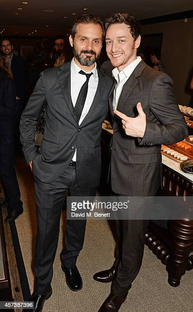 Director Ned Benson and James McAvoy attend a drink reception following the UK Premiere of 'The Disappearance Of Eleanor Rigby' during the 58th BFI...